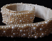 Cinto de Prolas e Strass - 3,8 cm
