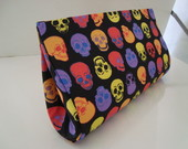 Clutch M�dia Skulls Colorida