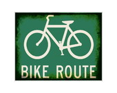 Placa MDF Retr�- Bike Route - 461