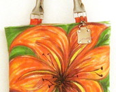 Bolsa Floral Laranja