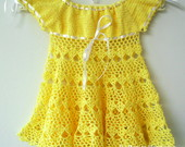 Vestido em Croch Para Beb Kristal