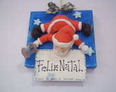 Quadro decorativo Papai Noel iluminado