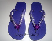 ::: Chinelo Decorado com Strass:::