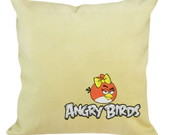 Capa para Almofada Angry Birds Bordada