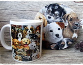 Caneca & Mug Rug Sousplat I LOVE MY DOG