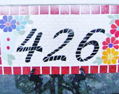 Placa de Nmero em mosaico
