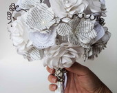 Bouquet Poemas e Rendas -flores de papel