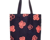 Ecobag jeans floral coral