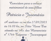 CONVITE DE CASAMENTO
