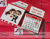 Save the date c/ im�, envelope e lacre