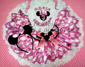 Conjunto Minnie Rosa  Frufru Luxo