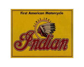 Placa MDF Retr�- Motorcycle Indian - 473