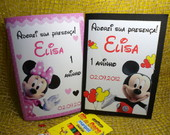 Caderninho colorir - Mickey e Minie 1