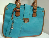 MAXI BOLSA  ESTILO PALHA AZUL