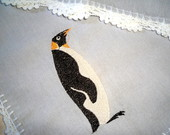 Toalha de Mesa Pinguins bordados