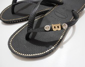 Havaianas Strass Duplo com Inicial