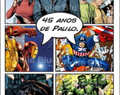 HQ Marvel Comics Convite Personalizado