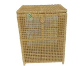 Cesto Roupa Palha Milho Natural 42x32x56