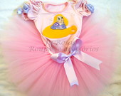 Conjunto Tutu Rapunzel