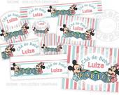 Kit para Imprimir - Mickey e Minnie Baby