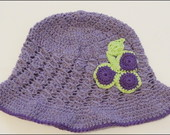 Chapu infantil de croche uva