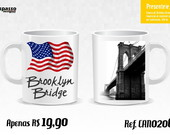 Caneca New York - Ponte do Brooklyn