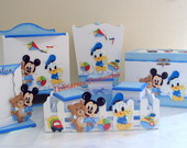 Kit Bebe Baby Mickey e Donald