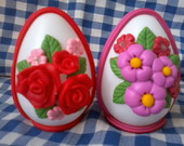 ovos decorados com flores
