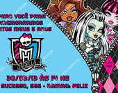 Arte de Convite Monster High