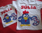 Camiseta galinha pintadinha me e filha