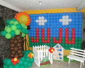 Decorao com Baloes Galinha Pintadinha