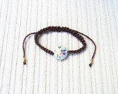 Pulseira Cloisonn Marrom