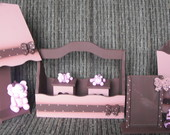 Kit beb� rosa com marron tema bichinhos.