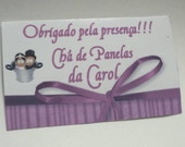 Tag para Lembrancinhas Personalizado