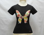 Camiseta - Baby Look - Borboleta