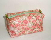 Necessaire box - amor em flor rosa