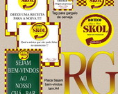 IDENTIDADE VISUAL - CH� BAR - TEMA SKOL