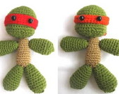 4 Tartarugas Ninjas Em Crochet - Tmnt