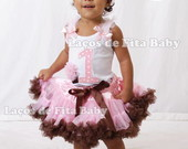 Conjunto Bailarina Marrom e Rosa