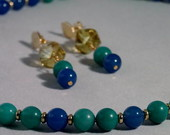 Conjunto em ouro folheado