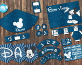 Mickey Mouse Kit Festa Digital Vintage