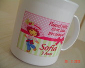 Caneca Plstica Aniversario Moranguinho