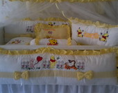 KIT PROTETOR DE BERO COM CORTINA POOH