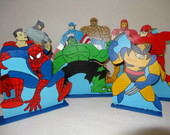 Kit Super Herois - 9 pe�as