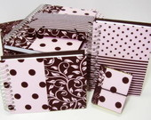 Kit Papelaria Chocolate Rosa