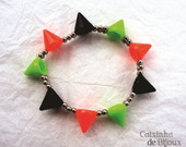 Pulseira Spikes coloridos