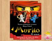Convite Ninjago Duelo
