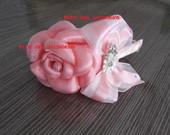 Tiara flor boleada com strass