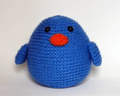 Amigurumi: Passarinho Azul
