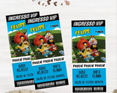 Convite Ingresso Angry Birds